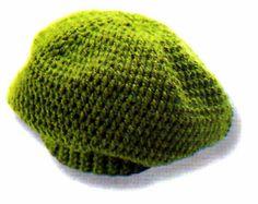 Descubre como tejer facil y en poco tiempo esta boina en verde en la  tecnica del crochet MATERIALES materiales   150 gramos de hilado sedificado  . 40ec1c86491