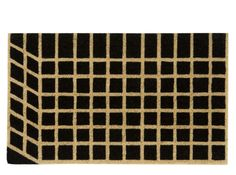 Vico Grid Doormat 45 x Black and Natural Different Colors, Colours, Doormat, Rugs, Grid, Fabric, Accessories, Natural, Design