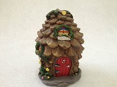 Homesupplies Miniature Fairy Garden and Pine Cone House Statue Figurine Decoration *** Details on product can be viewed by clicking the image