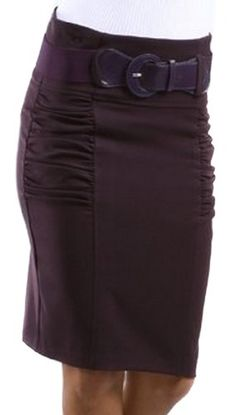 LSRuchedPencil8911 High Waist Ruched Pencil Skirt with Wide Belt - Plum / M Sakkas http://www.amazon.com/dp/B004BBK0NQ/ref=cm_sw_r_pi_dp_.ppPtb05YDCGHER5