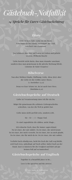 Gästebuch-Notfallkit 14 sayings for your perfect guest book entry at the wedding of friends or family. So that you will never again miss the words! Wedding Tags, Wedding Quotes, Wedding Blog, Wedding Dress, Lace Wedding, Wedding Newspaper, Bride Flowers, Flower Quotes, Wedding Planning
