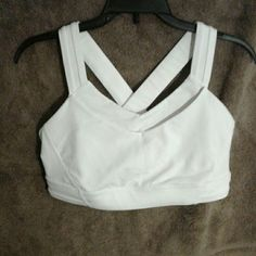Lululemon all sport bra Lululemon Rack Pack Bra, white color, in good condition lululemon athletica Tops Tank Tops
