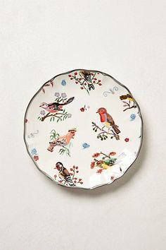 Nathalie Lete Dessert Plate #anthropologie buy white matching plates and paint like these
