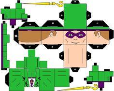 Cubbercraft The Riddler DC Super Heroes by handita2006 on deviantART