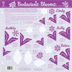 Hot Off The Press Templates 12 inchX12 inch-Bodacious Blooms, Multicolor