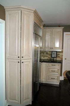 Angled Pantry Cabinets Allow For Storage And No Sharp Corners