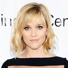 Wispy bangs like Reese has here are low maintenance and their brow-skimming length makes them versatile, too.