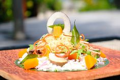 For the #foodies : #Maldivian cuisine features a blend of fresh flavors, many which are sourced from our very own garden, so don't miss our refreshing pumpkin salad, by our talented Chef. #JAManafaru