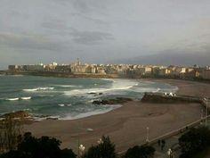 Spain, Galicia, A Coruña Beach