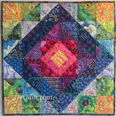 Rainbow Garden mini quilt by Elizabeth Eastmond   Occasional Piece