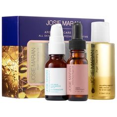 What it is:A three-step skin care ritual set for hydrated, healthy, protected skin.     What it is formulated to do:For healthy, balanced, hydrated skin, Josie Maran's Argan Skincare Ritual is the place to begin. Cleanse, nourish, and protect skin with
