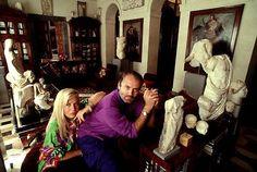Donatella and Gianni Versace.