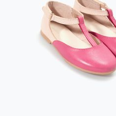 ZARA - KIDS - TWO-TONE BALLERINA FLATS WITH ANKLE STRAP