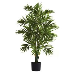 Nearly Natural 3 ft. Areca Silk Palm Tree