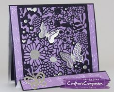 Multi Stepper Card made using Crafter's Companion Die'sire Everyday Create a Card - Country Garden. Designed by Carole Davis. #crafterscompanion