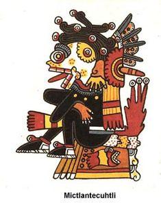 Mictlantecuhtli, Lord of the Land of the Death Arte Tribal, Aztec Art, Aztec Symbols, Owl Feather, Aztec Culture, Aztec Warrior, Tattoo Project, Mesoamerican, Indigenous Art