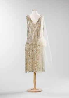Evening dress ca. 1925  From the Metropolitan Museum of Art