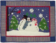 Winter Wonderland Quilt Pattern with Snowmen
