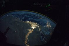 The nile as seen from the ISS