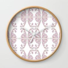 Pink Easter bunny with its eggs Wall Clock