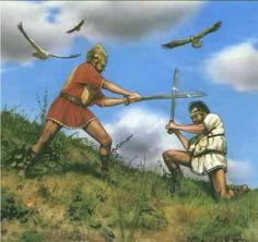 Early Roman Warriors, Villanovan Period, c. 750 BC.