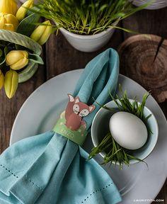 Printable Woodland Friends Easter Egg Holders