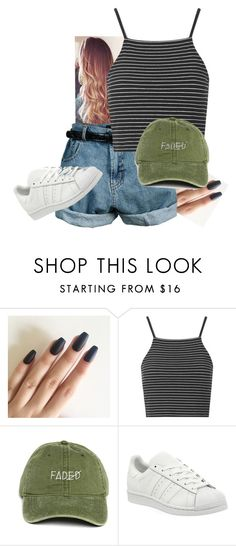 """Untitled #145"" by smilesformiless ❤ liked on Polyvore featuring Retrò, Topshop and adidas"