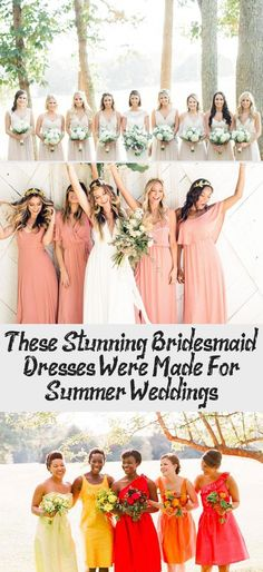 The Most Stunning Summer Bridesmaid Dresses Of 2018 #BridesmaidDressesNavy #YellowBridesmaidDresses #MaroonBridesmaidDresses #OffTheShoulderBridesmaidDresses #BridesmaidDressesTeaLength