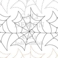 A fine web of a machine quilting pattern - goes great on kid's bug jar quilts and the like. Quilting Stencils, Quilting Templates, Longarm Quilting, Free Motion Quilting, Quilting Ideas, Hand Quilting, Quilting Stitch Patterns, Machine Quilting Patterns, Quilt Stitching