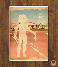 Edward Scissorhands Movie Poster - Vintage Style Magazine Retro Print Watercolor Background - A3 11.7 x 16.5 in