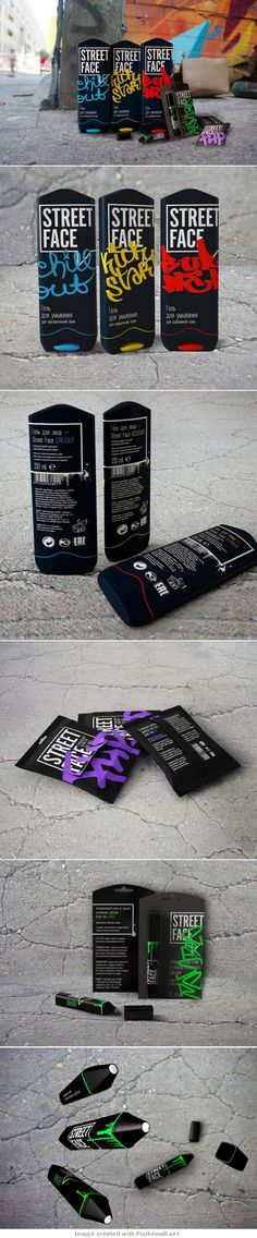 The concept of skincare products for urban teens, who lead an active lifestyle in the streets. Cool #packaging concept PD