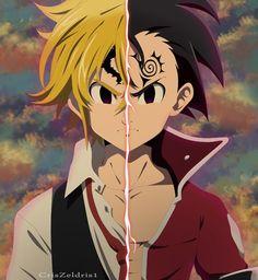 DeviantArt gallery - Meliodas y Zeldris Estilo Anime by - Otaku Anime, Anime Naruto, Manga Anime, Seven Deadly Sins Anime, 7 Deadly Sins, Anime Cosplay, Meliodas Vs, Animé Fan Art, Meliodas And Elizabeth