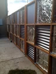 Image result for blocking up a front gate with clear corrugated plastic