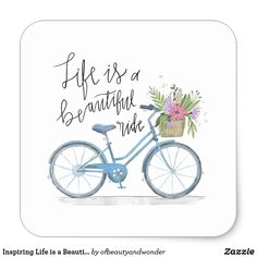 Life is a beautiful Ride: Internet Password Organizer: Never Forget A Password Again! x (Life Is A Beautiful Ride) Blue Bicycle Design, Small . Bicycle Cards, Free Paper, Custom Stickers, Watercolor Art, Canvas Wall Art, Illustrator, Clip Art, Crafts, Life