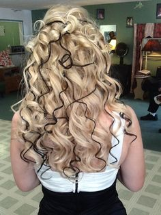 Prom style  Extensions with black extensions added