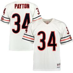 Men s Mitchell  amp  Ness Walter Payton White Chicago Bears Retired Player  Replica Jersey ee149656f
