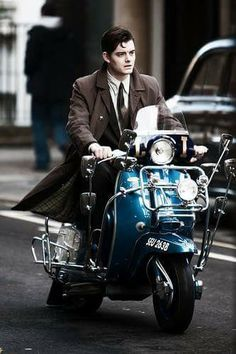 OH MY I do love a bit of Sam Riley from Control fame. Here he is, riding a scooter like a pro, in the new adaptation of Graham . Sam Riley, Brighton Rock, Pride And Prejudice And Zombies, Good Looking Actors, Mod Look, Mod Scooter, Casual Fashion Trends, Love Sam, Man Go