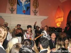 Prince's after party at Paisley Park.