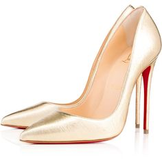 SO KATE NAPPA PEPITE 120 Gold Lambskin - Women Shoes - Christian... (€525) ❤ liked on Polyvore featuring shoes, pumps, louboutin, christian louboutin, heels, gold pumps, pointed toe stilettos, stiletto heel pumps, stiletto heel shoes and high heel stilettos