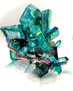 Gem watercolor - by Krista Wiegand