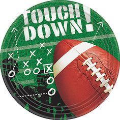 "Football Frenzy 9"""" Plates 