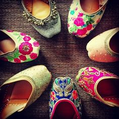 colourful juttis , pretty and feminine , pastels , sequined , ghungroo juttis , florals