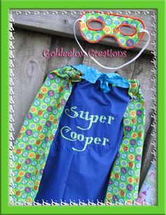Scooby Doo Fabric Cape & Mask Set with Embroidery