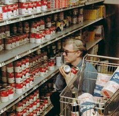 WARHOL shopping for some CAMPBELL'S