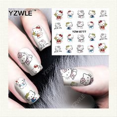 0.10$  Buy now - http://alik1v.shopchina.info/go.php?t=32663794408 - YZWLE 1 Sheet DIY Decals Nails Art Water Transfer Printing Stickers Accessories For Manicure Salon (YZW-8777)  #buyonline