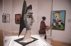 'Picasso's paintings talk back and forth across the gallery, calling each other into being': Jacqueline With a Yellow Ribbon, 1962 (foreground) opposite Maya in a Sailor Suit, 1938 (right) at the National Portrait Gallery. Pablo Picasso, Philippe Parreno, Turbine Hall, Barcelona, Spanish Painters, National Portrait Gallery, Fish Art, Female Portrait, Printmaking