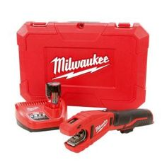 Milwaukee, M12 12-Volt Lithium-Ion Cordless Copper Tubing Cutter Kit, 2471-21 at The Home Depot - Tablet