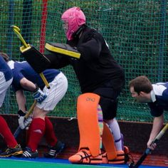 RAGE Sphinx Goalie stick on the field! Available at RAGE Field Hockey website!