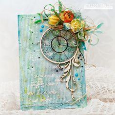 Весняна листівочка. card, spring, handmade, overlay, chipbord,