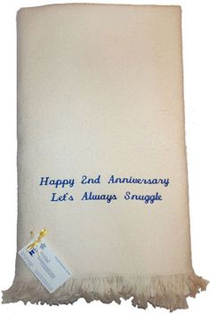 2nd Anniversary Cotton Throw Blanket by initial_impressions, via Flickr